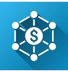 Financial Network Scheme Gradient Square Icon vector