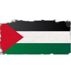 Flag of palestine grunge vector