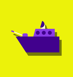 Flat icon design collection military warship in vector