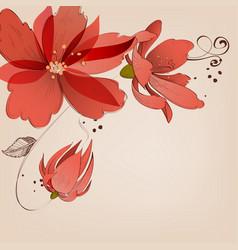 Floral corner decoration vector