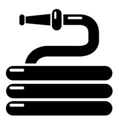 Garden watering hose icon simple style vector