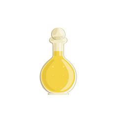 Glass bottle of vinegar vector