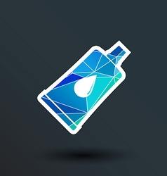 glue icon button logo symbol concept vector image vector image