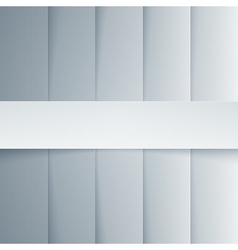 Gray and white paper rectangle shapes background vector image
