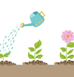 Grow well vector image