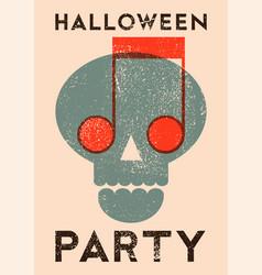 halloween vintage stencil spray grunge poster vector image