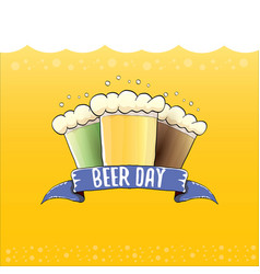Happy beer day graphic poster vector