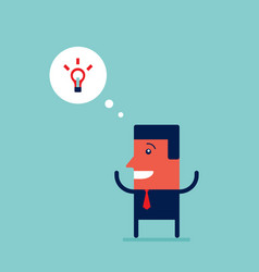 happy businessman with an idea successful business vector image