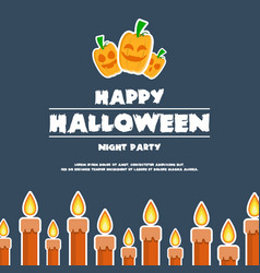 happy halloween design banner pumpkins vector image