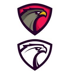 Heraldic eagle mascot vector