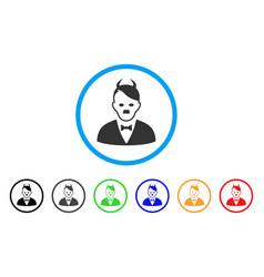 Hitler devil icon vector