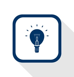 Idea bulb flat icon vector