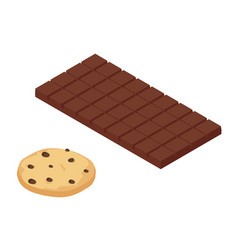isometric chocolate bar vector image