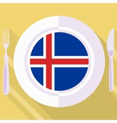 Kitchen of iceland vector