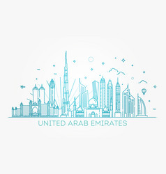 linear banner of united arab emirates vector image
