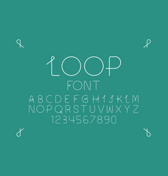 Loop regular font alphabet vector