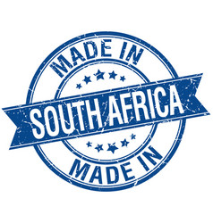 made in south africa blue round vintage stamp vector image