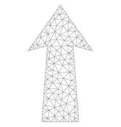 mesh arrow up icon vector image