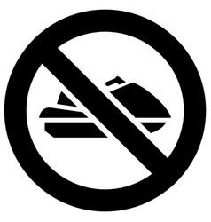No personal watercraft forbidden sign modern vector