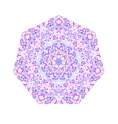 Ornate colorful abstract geometrical floral vector