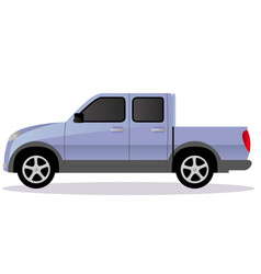 Pickup track car body type vector