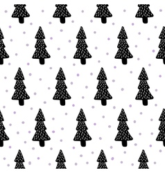 pine trees pattern vector image