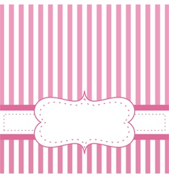 Pink card invitation for baby shower or wedding vector