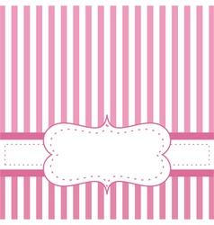 pink card invitation for bashower or wedding vector image