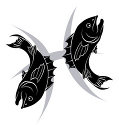 Pisces zodiac horoscope astrology sign vector