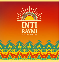 Poster for ancient pagan festival inti raymi vector