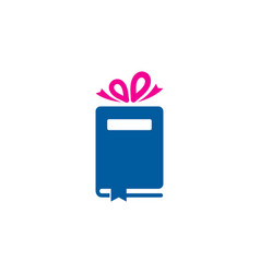 present book logo icon design vector image