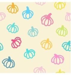 Pumpkin seamless background vector