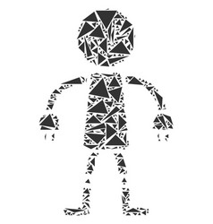 robot collage of triangles vector image