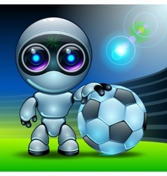 Robot football vector