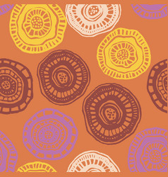 seamless pattern with hot aborigine flowers vector image