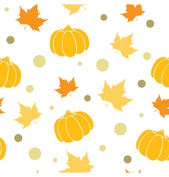 Seamless pattern with orange pumpkin vector