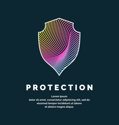 shield a symbol protection and reliability vector image