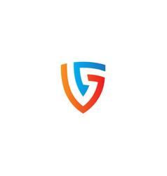 shield shape protect logo vector image
