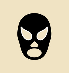 Simple graphic of a wrestler mask vector