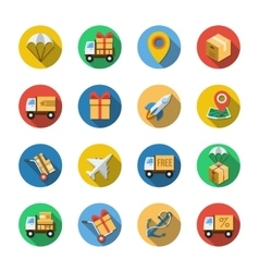 Sixteen Different Icons in a Flat Style vector