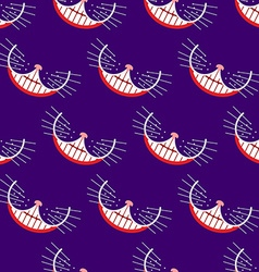 Smile cat seamless pattern background vector image