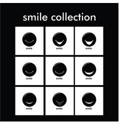 Smile collection template design vector
