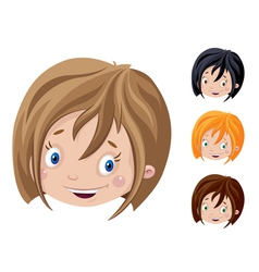 smiling head of girl vector image