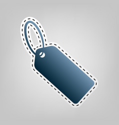 tag sign blue icon with vector image