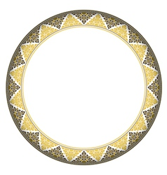Thai style complex circle frame vector