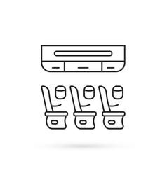 Thin line seats on plane icon vector