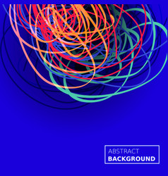 Threads chaos background abstract lines vector