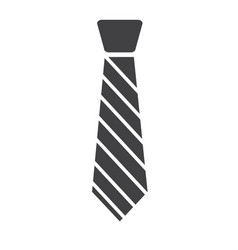 Tie icon isolated on white background tie sign vector