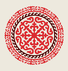 Traditional ornament asian nomads vector