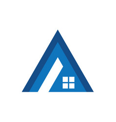 Triangle roof business logo vector